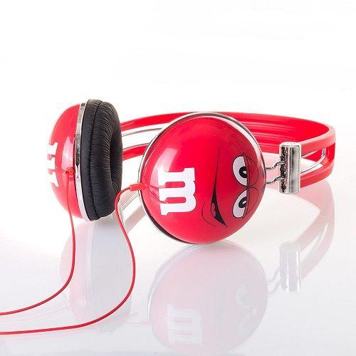 Red M&Ms Headphones. Tech gadget. Christmas gift ideas. Stocking stuffer ideas for teens.