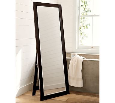 Wood mirror from Pottery Barn in white...an option but thinking something with a silver frame instead