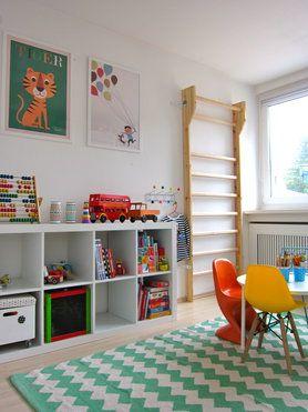 Kinderzimmer mit Sprossenwand