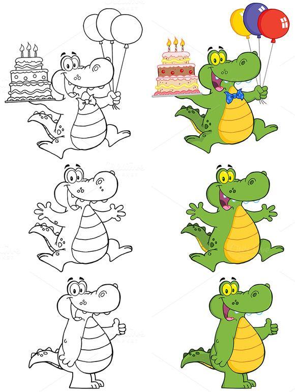 Crocodile Character Collection 3 Crocodile Cartoon Character Collection Crocodile Illustration