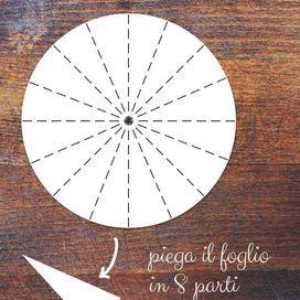 Step 1: ritaglia un cerchio di carta | Donna Moderna