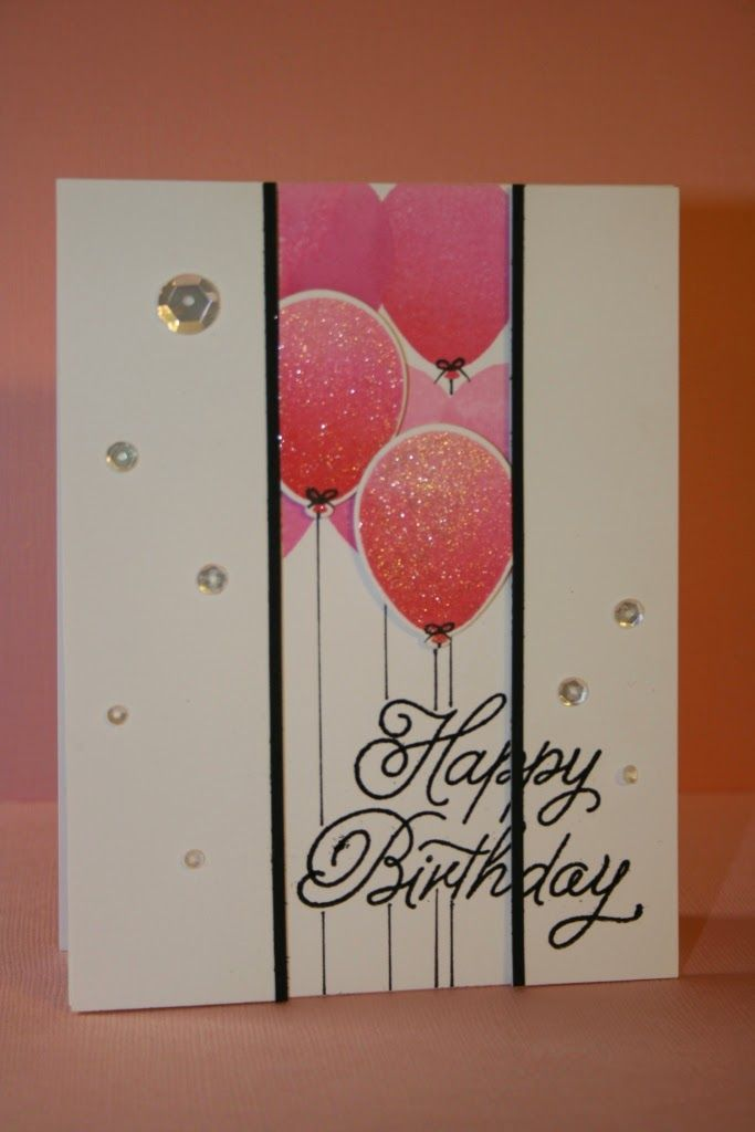 My Craft World: Dimensional Birthday Card- could use the SU balloon stamp and punch to make this card
