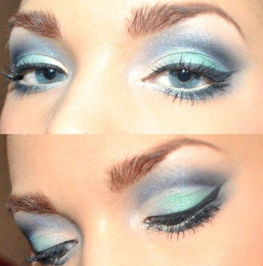love it: Makeup Hair Nails, Make Up, Eyes Makeup Hair Beautiful, Blue Makeup, Makeup Ideas, Eye Makeup Hair Beautiful, Love It, Mermaids Eye, Hair Makeup Nails Fragr