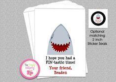 Shark Party Favor Bag , Candy  Bag ,  Shark Party