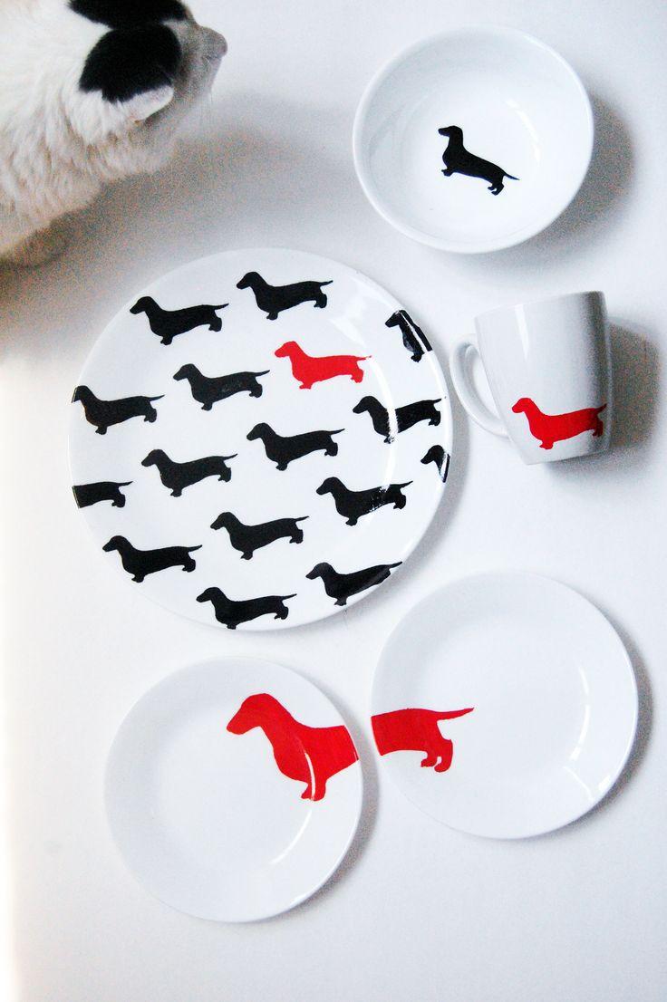 dachshund dish set