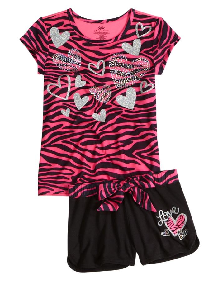 Zebra 2pc Pajama Set   Short Sets   Pajamas   Shop Justice