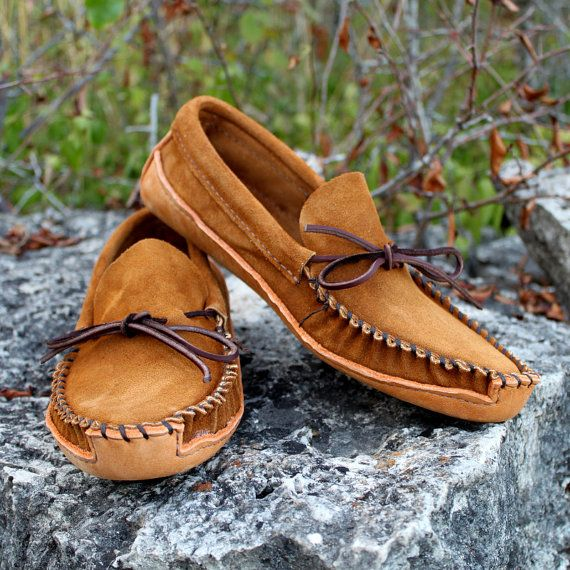 Mens Canoe Moccasins by KingsTrailLeather on Etsy, $60.00