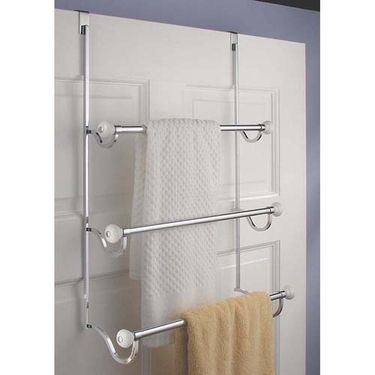 Keep Those Towels Looking Tidy With This Over The Door Towel Rack Three Bars Offer Plenty Of Storage E To Within Easy Reach And