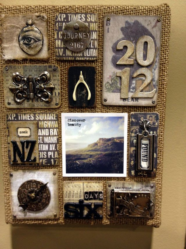 Tim Holtz's new burlap with his idea-ology new w2013