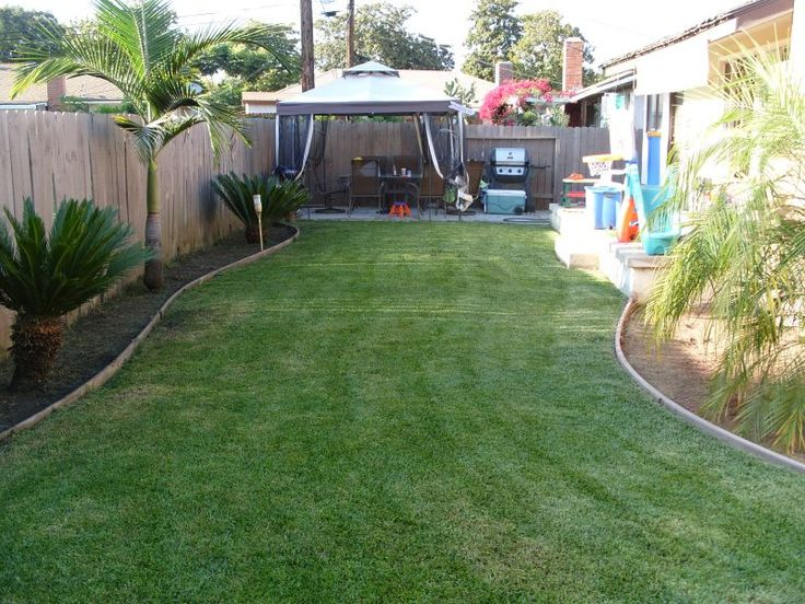Inexpensive Backyard Landscaping Ideas this is really nice. less the palms of course (i wish i could have