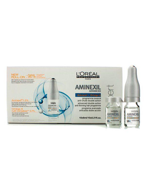 Ампулы против выпадения волос Aminexil Advanced Treatment Loreal купить от 2299 руб в Созвездии красоты