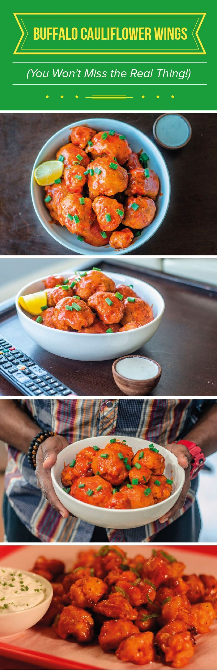 """See more here ► https://www.youtube.com/watch?v=0KRTOVZ92_4 Tags: good weight loss pills, weight lose, lose weight now - Want to surprise your friends with a healthier version of a game time favorite? Try these buffalo """"wings"""" made using cauliflower! #fitmencook #fitwomencook #snack #healthy #exercise #diet #workout #fitness #health"""