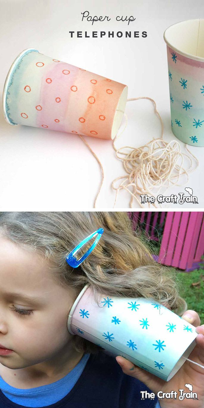 paper cup telephones | kids diy projects/activities | paper, crafts