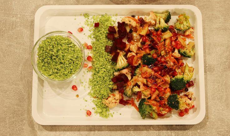 Σαλάτα ενέργειας από την Αργυρώ Μπαρμπαρίγου | Σαλάτα γεμάτη βιταμίνες και ενέργεια, με γλυκόξινο dressing, μπρόκολο, καρότο και κουνουπίδι