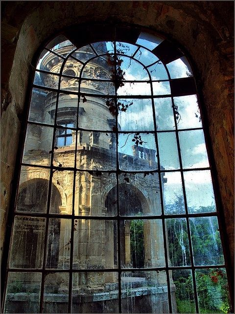 From ruined window to abandoned building...   ................................♥...Nims...♥
