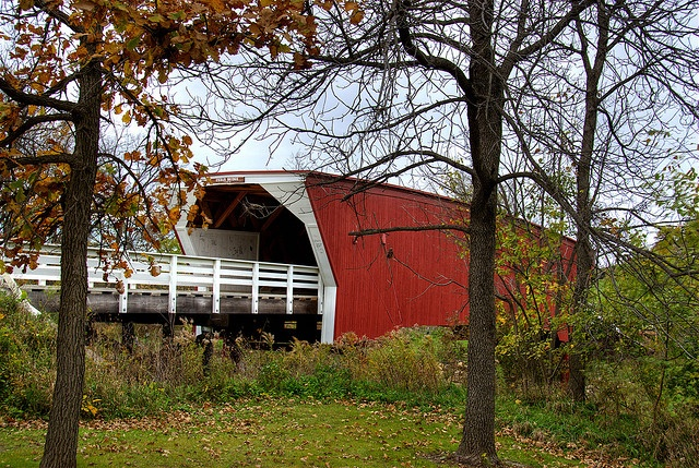 Bridges of Madison County ....  this bridge was used for the movie.  Took my mom there and she loved it