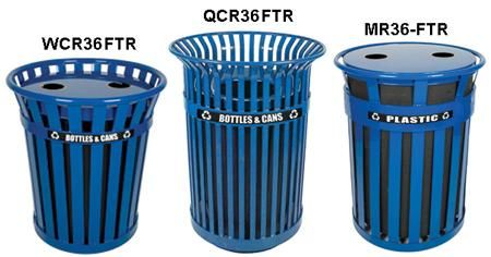 Witt Steel Outdoor Recycling Receptacles