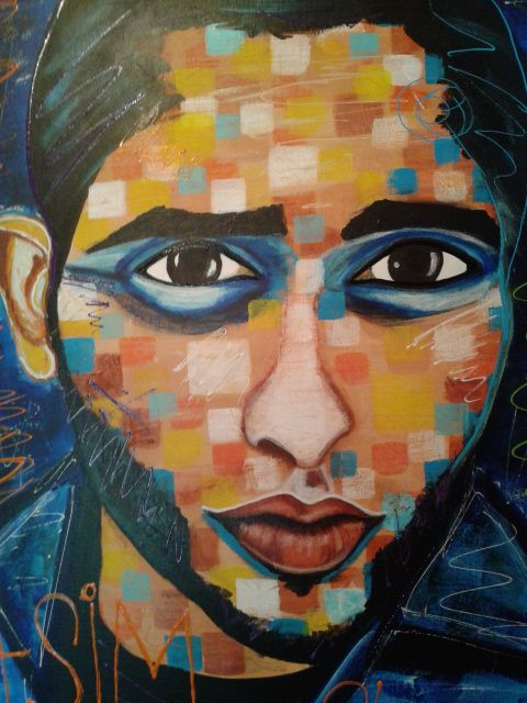 Asim by STEFANO 2015 (only the face) detail portrait,painting,painter,acrylic,faces,fineart,art model,modernpainting,fineart,