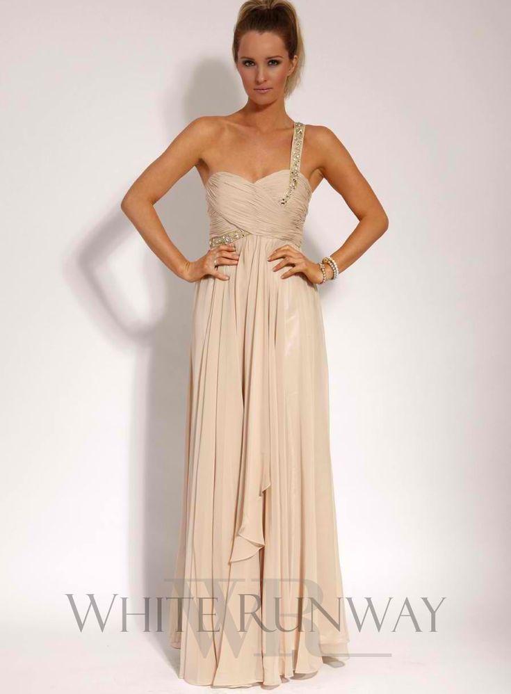 Lucia Embellished One Shoulder Dress $250
