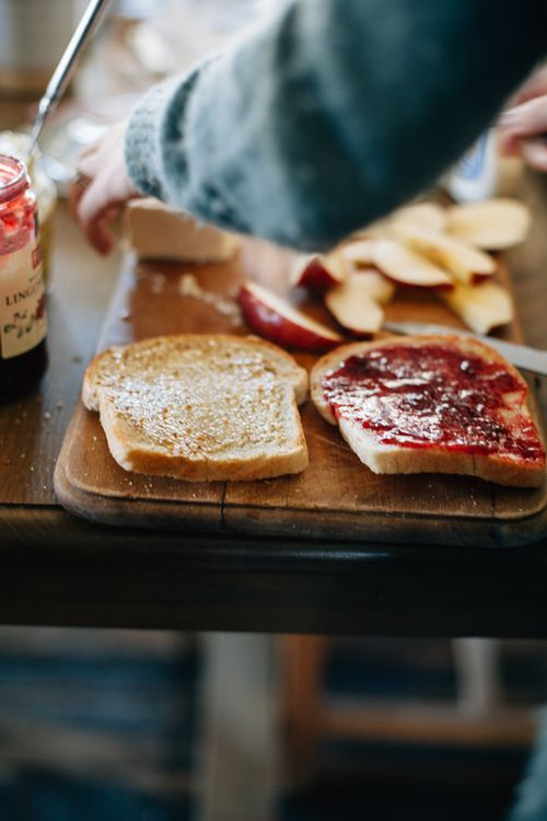 PB&J a great snack or meal for any age! Oh, the many wonderful + simple things you can do with Peanut Butter... Stock up today.