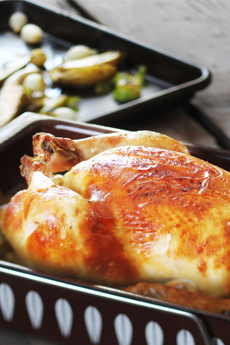 NYT Cooking: This recipe, from the chef Adrienne Cheatham of Red Rooster Harlem in New York, pairs a whole roast chicken, brined overnight in lager, with roasted potatoes, brussels sprouts, pearl onions and sage. The resulting bird is crisp-skinned, with juicy, flavorful meat.