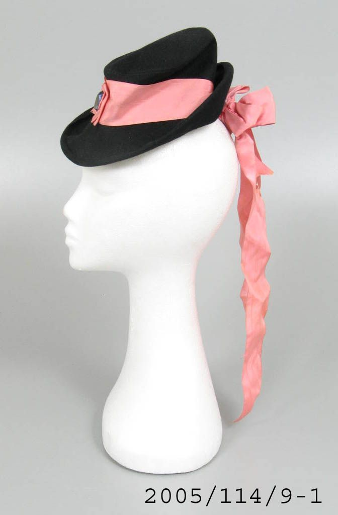 Hat Womans Felt Plastic Worn By Heather Waddell Of Moray Millinery Sydney New South Wales Australia Designed By Elsa Schiaparelli Hats Schiaparelli