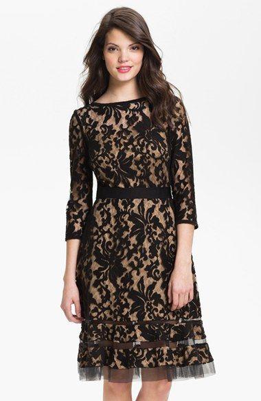 Tadashi Shoji Lace Overlay Dress available at #Nordstrom