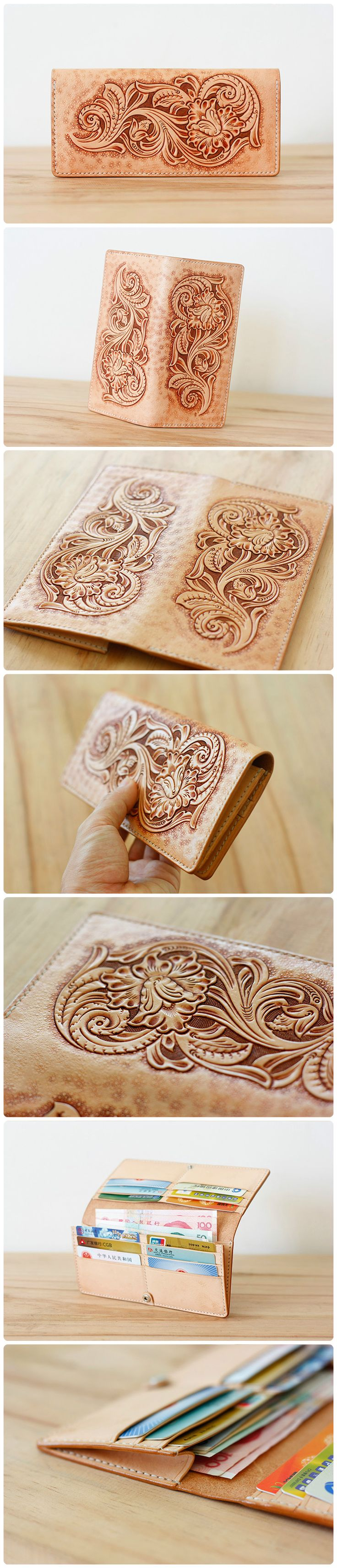 Beautiful wallet. Nice tooling!  #leather #tooling