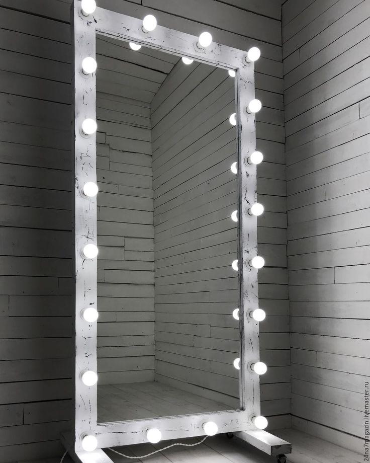 Купить Гримерное зеркало ZERO. - чёрно-белый, застаренное зеркало, состаренное зеркало, зеркало на зааз