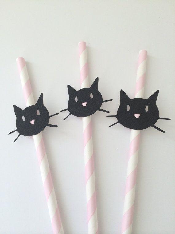 Pailles en papier 10 pailles de papier chat par PaperTrailbyLauraB