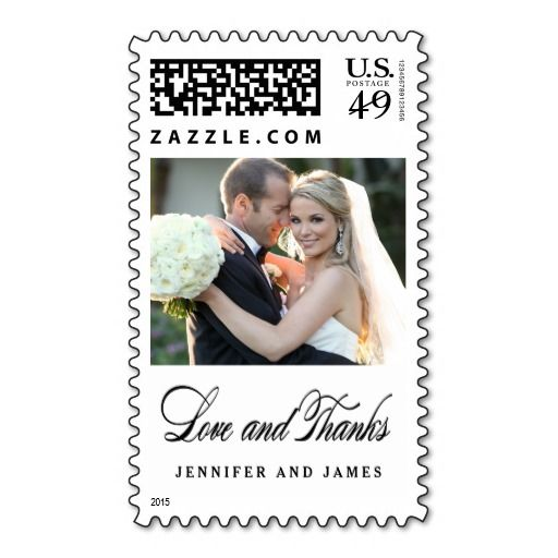 Love and Thanks | Wedding Photo Thank You Stamp