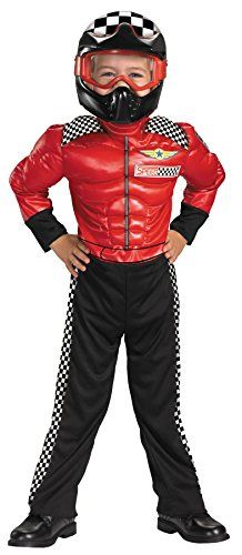 UHC Boy's Turbo Racer Toddler Fancy Dress Racing Theme Child Halloween Costume, 3T-4T ** See this great image @