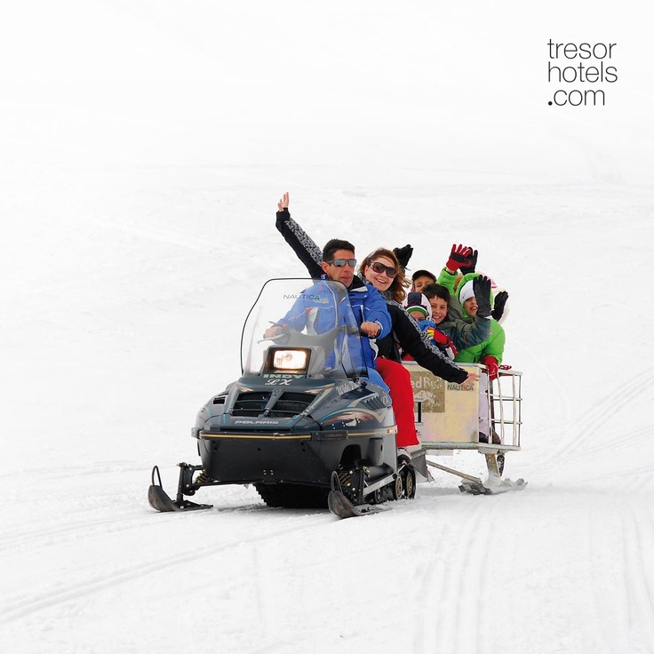 Trésor Hotels and Resorts_Luxury Boutique Hotels_#Greece_ Get ready for a bike ride with snowmobile at the ski center of #Vasilitsa! Your own or with a guide, give throttle and enjoy the sense of freedom offered by the majestic mountain range of #Pindos! With the experience of #Alpine #Zone assured of a fun ride in the snow scooter park, at #Vasilitsa.