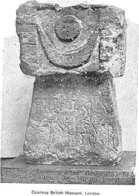 """From the British Museum, London, we find this inscription tablet from pre-Islamic Arabia. The crescent and sun on top relate to the Vedic dictum """"Yawachchandra Diwakarau,"""" which signifies that the gift mentioned in the inscription should last as long as the sun and moon. http://www.stephen-knapp.com/art_photo_nineteen.htm"""