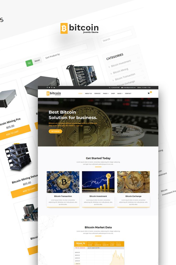 Bitcoin - Mining and Cryptocurrency Joomla Template #66907