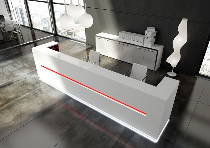 Welcoming, of course, but with elegance because the reception area represents the business...  http://interoffice.co.uk/furnitu…/reception-desks-furniture/