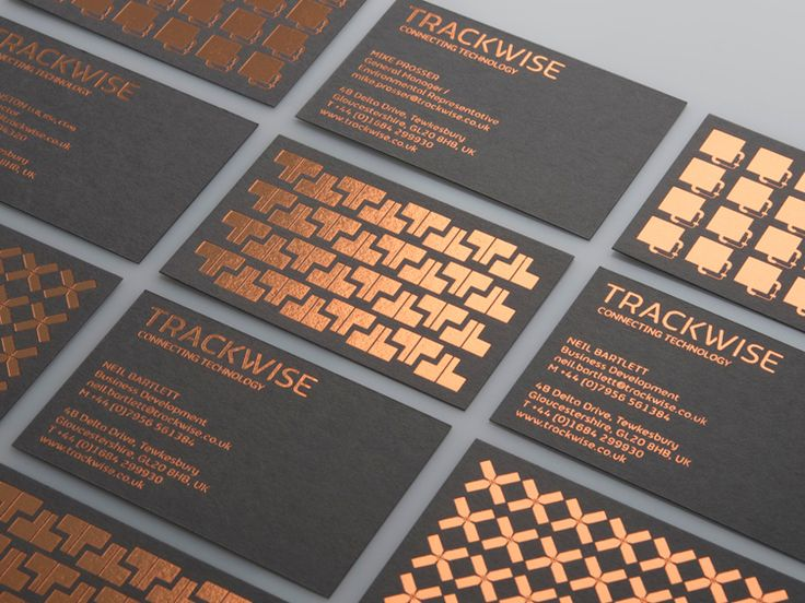 Foil Business Cards - Gold, Silver, or Copper