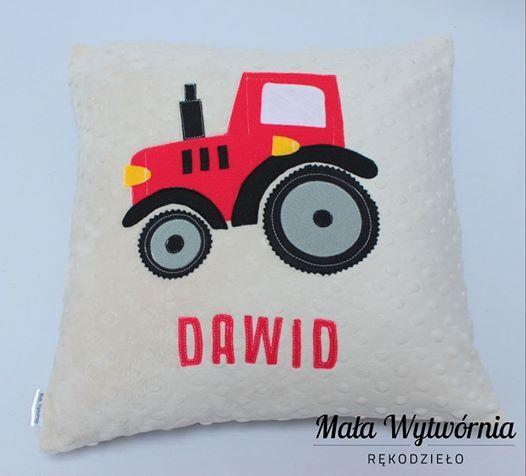 Poduszka dla Dawida z traktorem :)