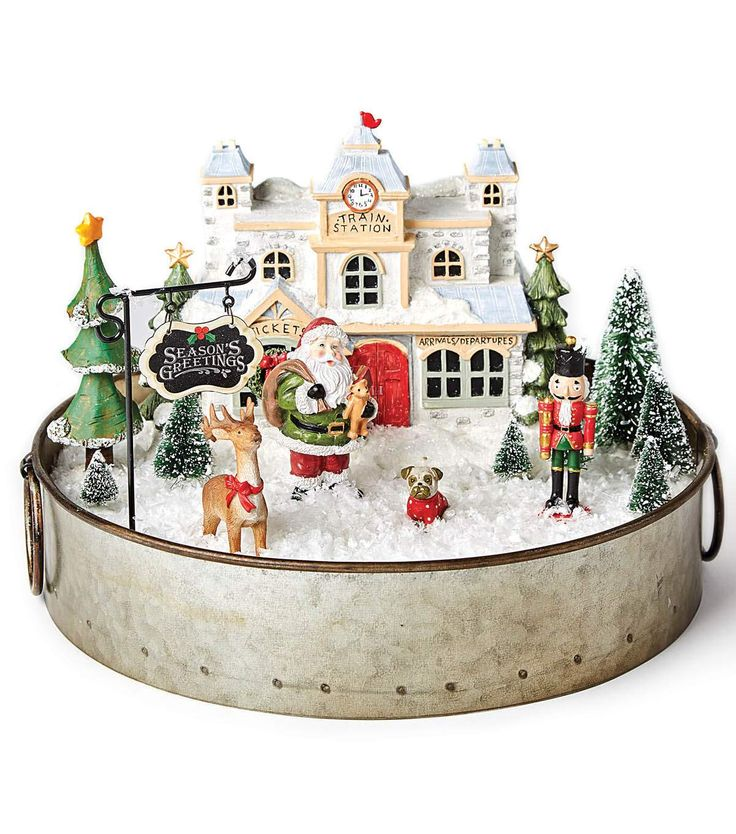 33 best decorazioni di natale images on pinterest for Village craft container home
