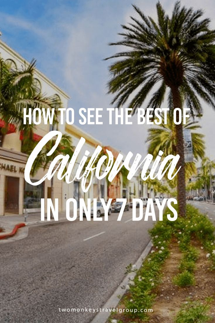 How to See the Best of California in Only 7 Days  This summer you�ve decided to explore the West Coast but only managed to get a week off from work. You don�t want to feel overloaded, and you aren�t convinced there is enough time to get out and explore th
