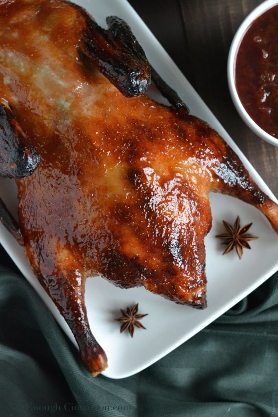 Don't be afraid of cooking duck, it's a lot easier than you think. This easy Plum and Ginger Roasted Duck recipe is the perfect place to start!