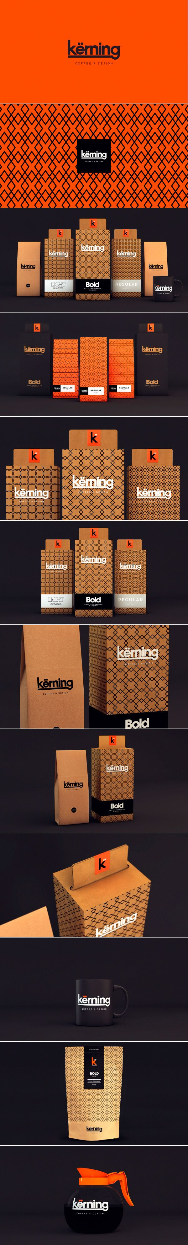 Kërning Coffee by Sweety Branding Studio. wow that's bright packaging PD