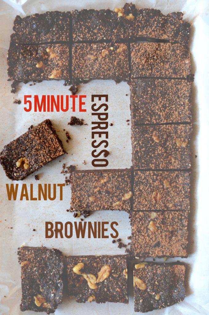 5 minute espresso walnut brownies | MINIMALISTBAKER