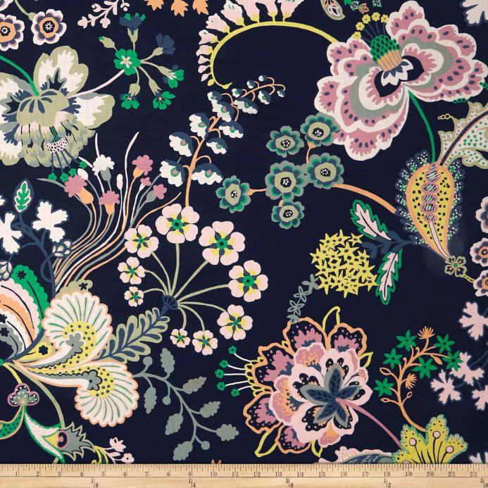 Liberty Fabrics Tana Lawn Floral Symphony Navy Multi Floral