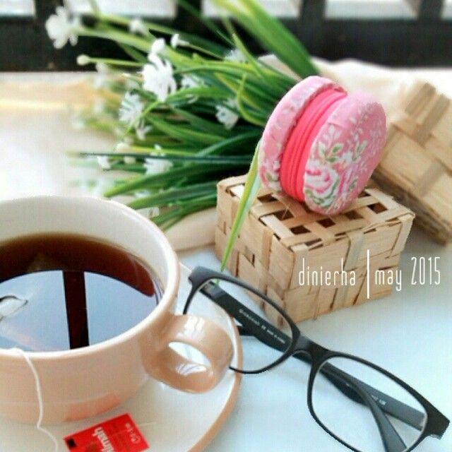 Macaroon and tea time