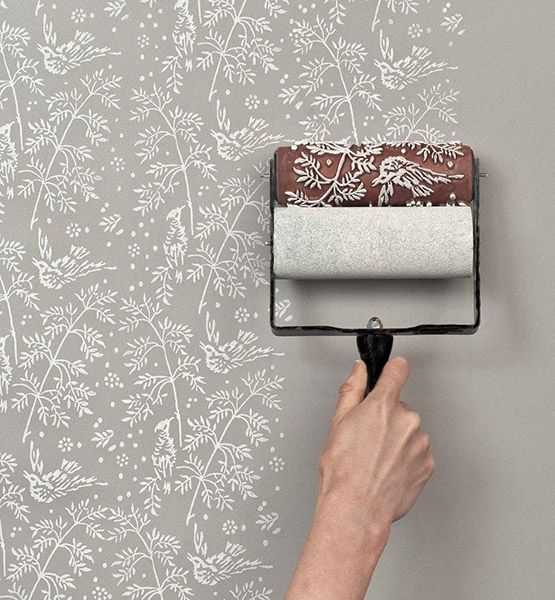 Looking for an affordable and easy alternative to wallpaper? Patterned paint rollers are a simple way to brighten up boring walls.  SHOP NOW: The Painted House Patterned Paint Rollers: $21 and up, etsy.com