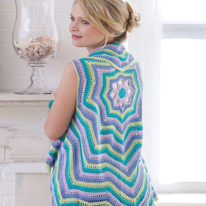 Rippling Vest FREE Crochet Pattern