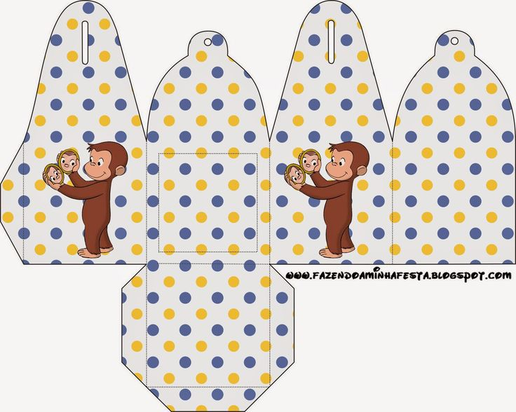 Is it for PARTIES? Is it FREE? Is it CUTE? Has QUALITY? It´s HERE! Oh My Fiesta!: Curious George Free Printable Boxes.