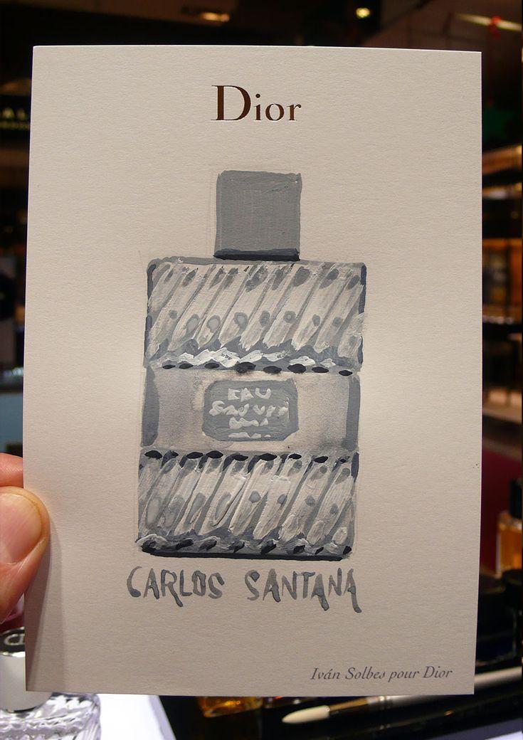Dibujando perfumes en DIOR.