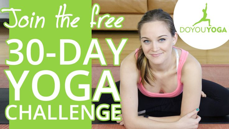 Sign up FREE here: http://www.doyouyoga.com/challenge Welcome to the free 30-Day Yoga Challenge by DoYouYoga.com with Erin Motz! This yoga challenge consists...